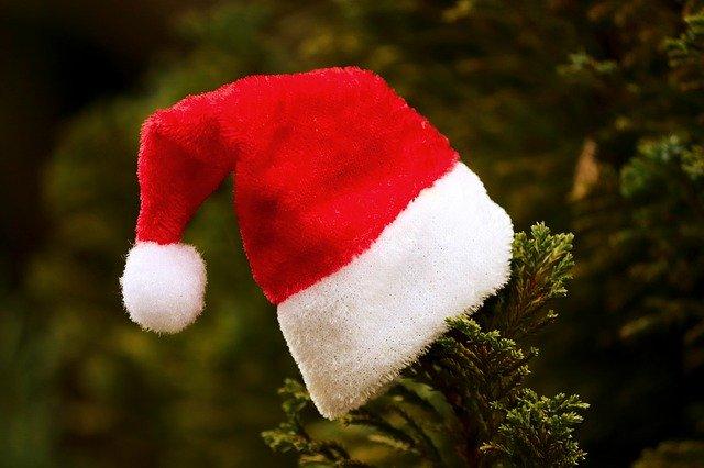 Santa Hat Fabric Christmas