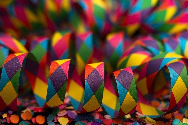 Streamer Carnival Colorful Color